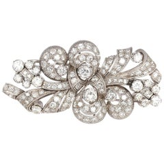 Double Clip Diamonds Platinum Brooch Transformer, 1930