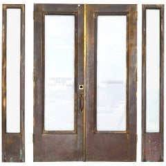 Double Door Brass Clad Entry with Sidelights