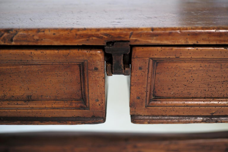 Double Drawer Changer Table, Switzerland 17th Century For Sale 3