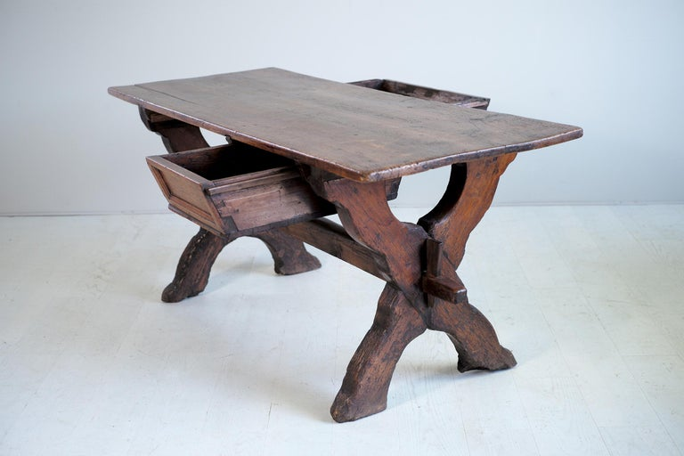 Double Drawer Changer Table, Switzerland 17th Century For Sale 4