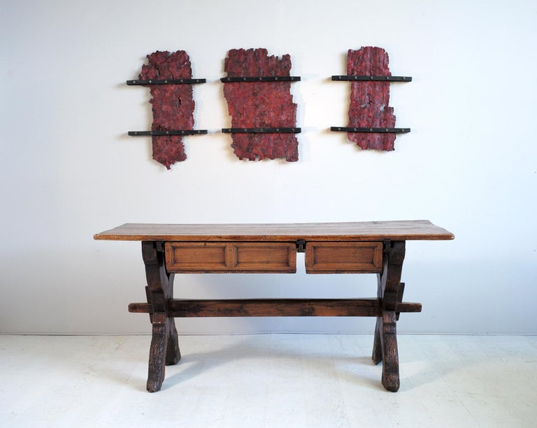 Double Drawer Changer Table, Switzerland 17th Century For Sale 7