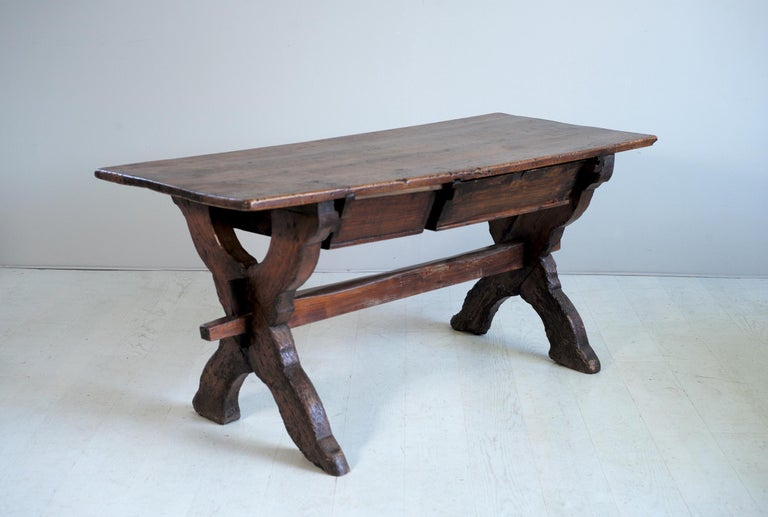 18th Century and Earlier Double Drawer Changer Table, Switzerland 17th Century For Sale