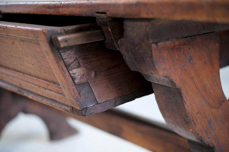 Double Drawer Changer Table, Switzerland 17th Century For Sale 1