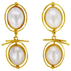 Double Drop Pearl Earrings by Carolyn Morris Bach