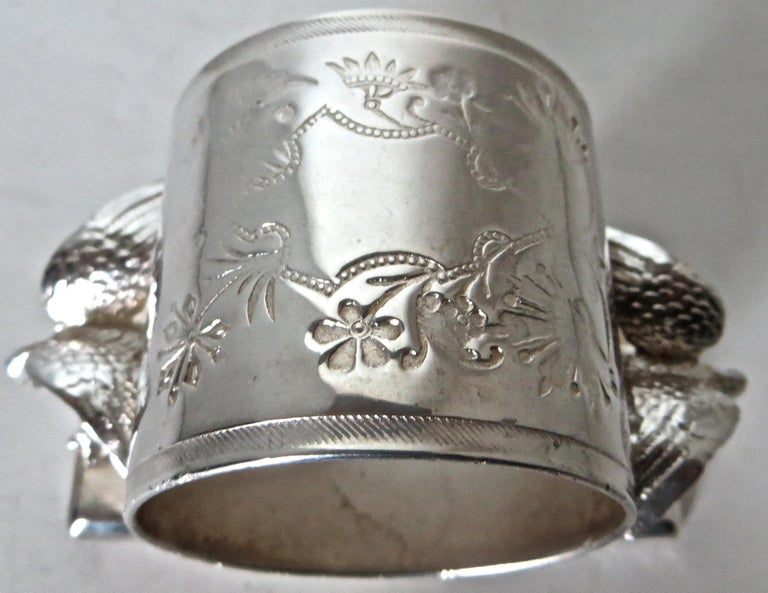 Double Eagle Silver Plated Victorian Figural Napkin Ring, American, circa 1885 For Sale 1