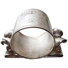 Double Eagle Silver Plated Victorian Figural Napkin Ring, American, circa 1885