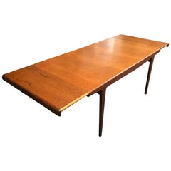 Double Extending British Midcentury Teak Dining Table by Younger of Glasgow