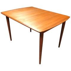 Double Extending Teak Dining Table by Rastad & Relling for Gustav Bahus
