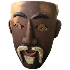 Double Face Ceramic Vase of Man