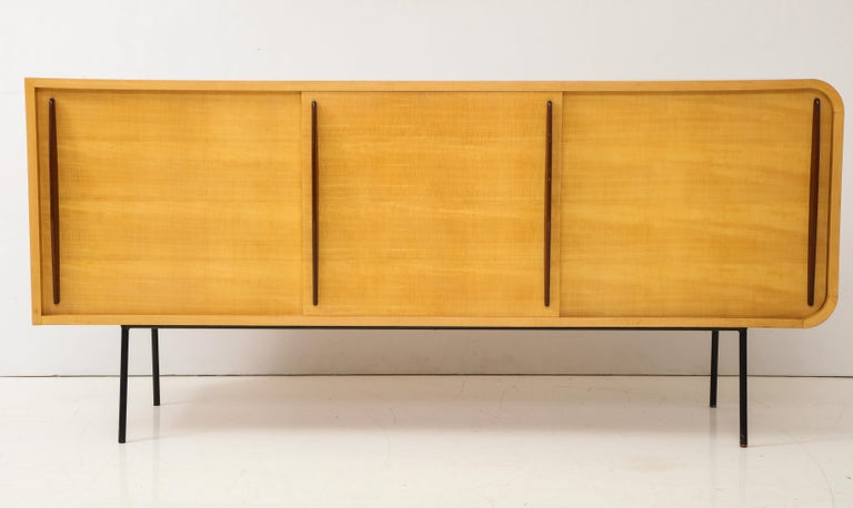 French Double Faced Sycamore Cabinet by Raphael, 20th Century For Sale