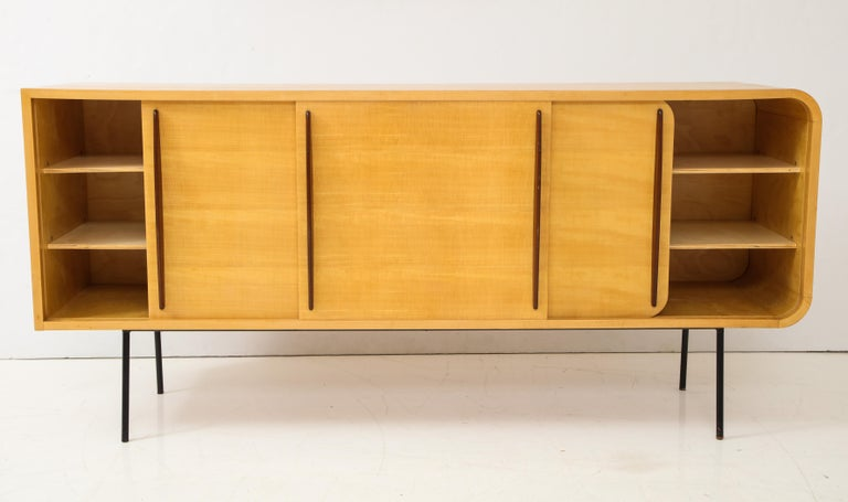 Double Faced Sycamore Cabinet by Raphael, 20th Century In Good Condition For Sale In New York City, NY
