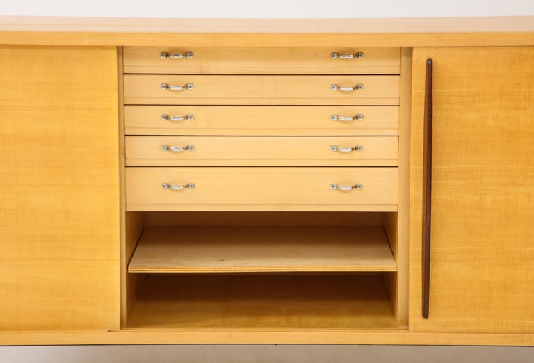 Double Faced Sycamore Cabinet by Raphael, 20th Century For Sale 1