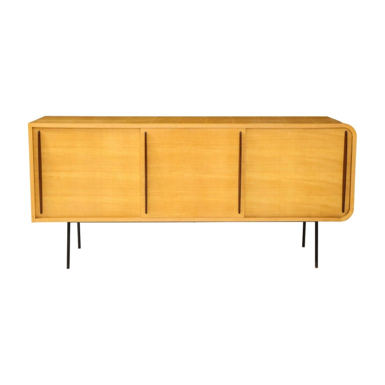 Double Faced Sycamore Cabinet by Raphael For Sale