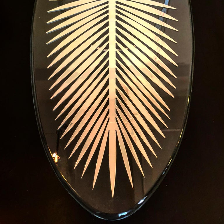 Patinated DOUBLE FROND TABLE in solid brass by Christopher Kreiling Studio  For Sale