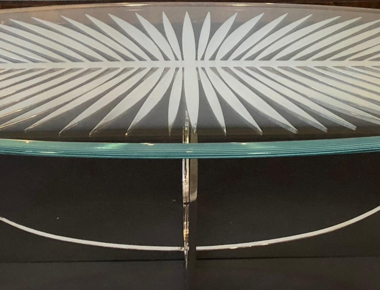 DOUBLE FROND TABLE in solid brass by Christopher Kreiling Studio  In New Condition For Sale In Pasadena, CA