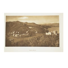 Double Front and Back Lithograph Depicting Portofino in Italy 1930s