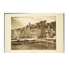 Double Front and Back Lithograph Depicting Portovenere and Pisa in Italy, 1930s
