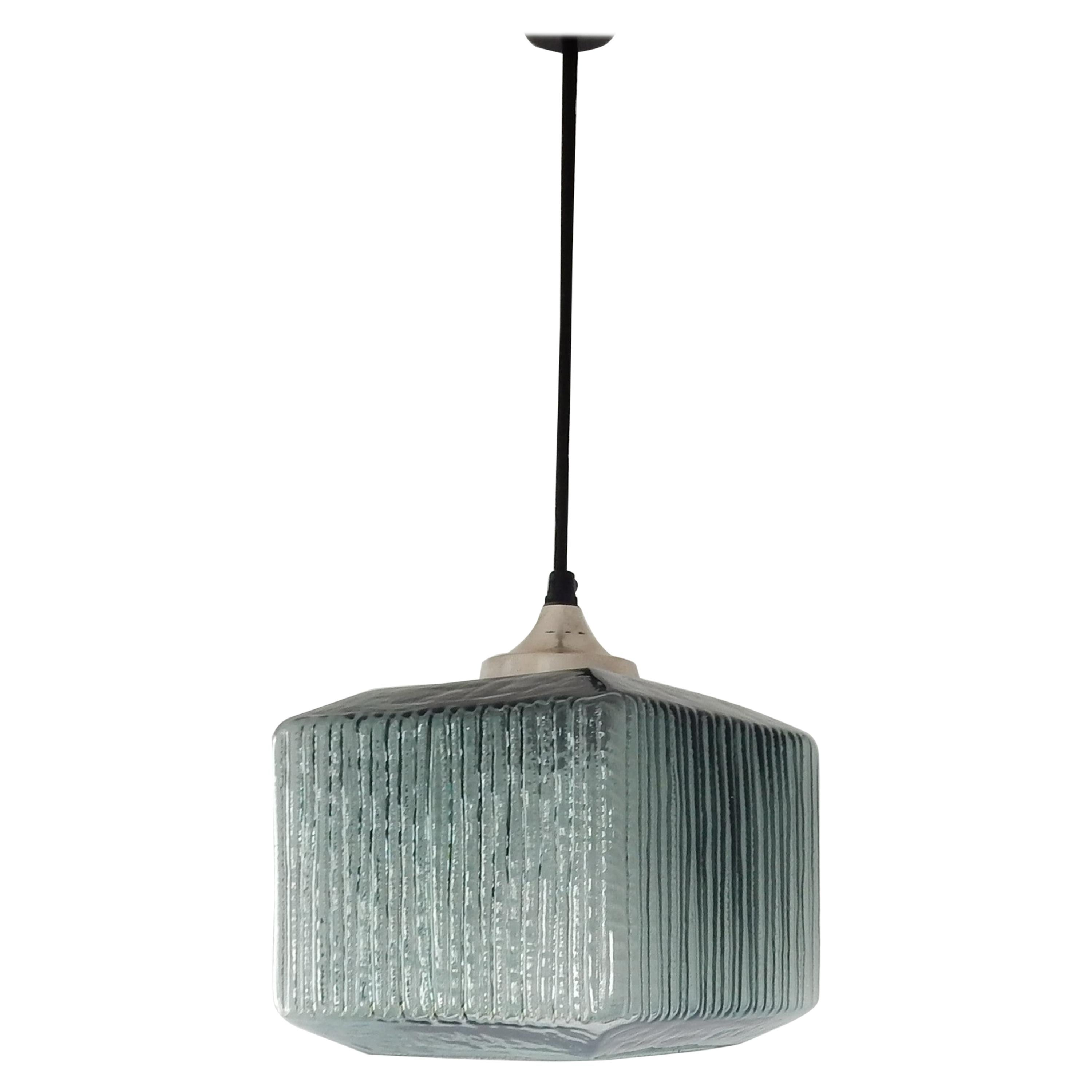 Double Glass Pendant Lamp in Style of Carl Fagerlund for Orrefors, 1960s