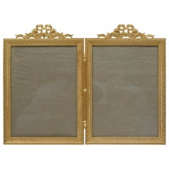 Double Golden Brass Frame, 19th Century