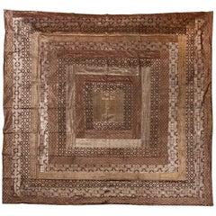 Double Indian Bed Cover in Bronze Tones