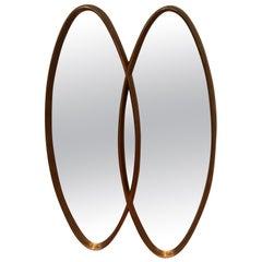 Double Loop Giltwood Vintage Mirror