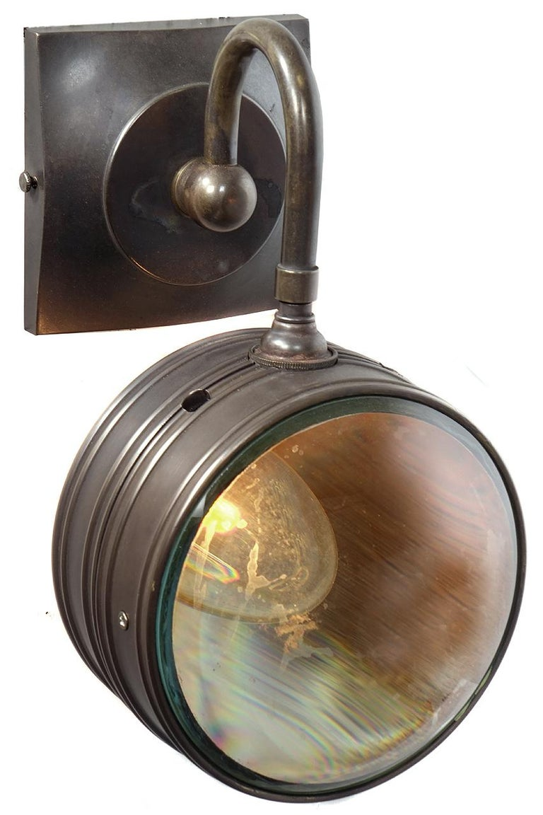 Double Magnifying Glass Sconce In Good Condition For Sale In Peekskill, NY