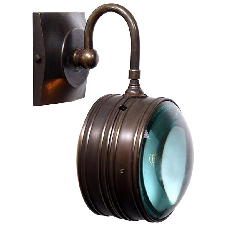 Double Magnifying Glass Sconce For Sale