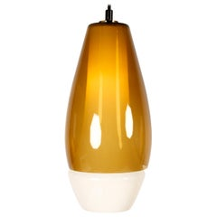 Double Mouth-Blown Glass Pendant by Fog & Mørup, 1960s