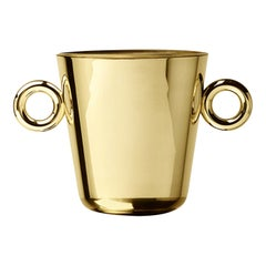 Double O Ice Bucket in Polished Brass Finish by Richard Hutten