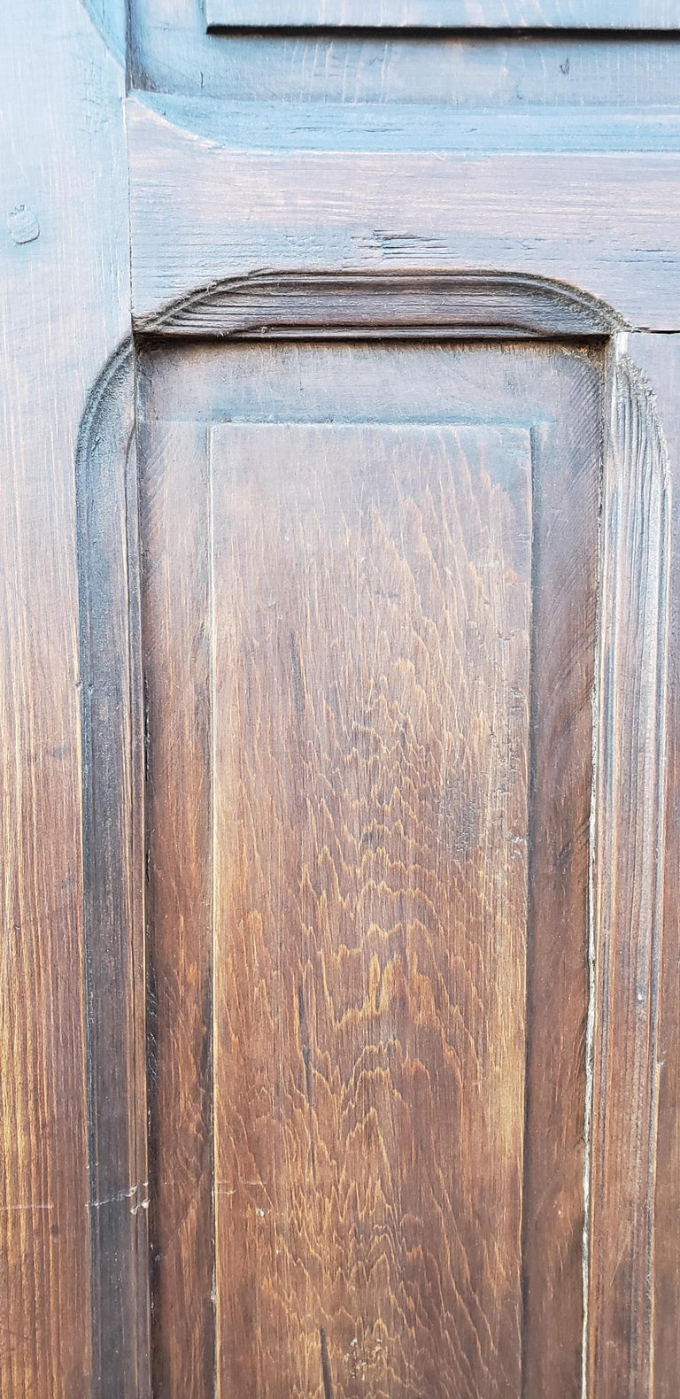 Double Panel Arched Moroccan Wooden Door, 23ND34 In Good Condition For Sale In Orlando, FL