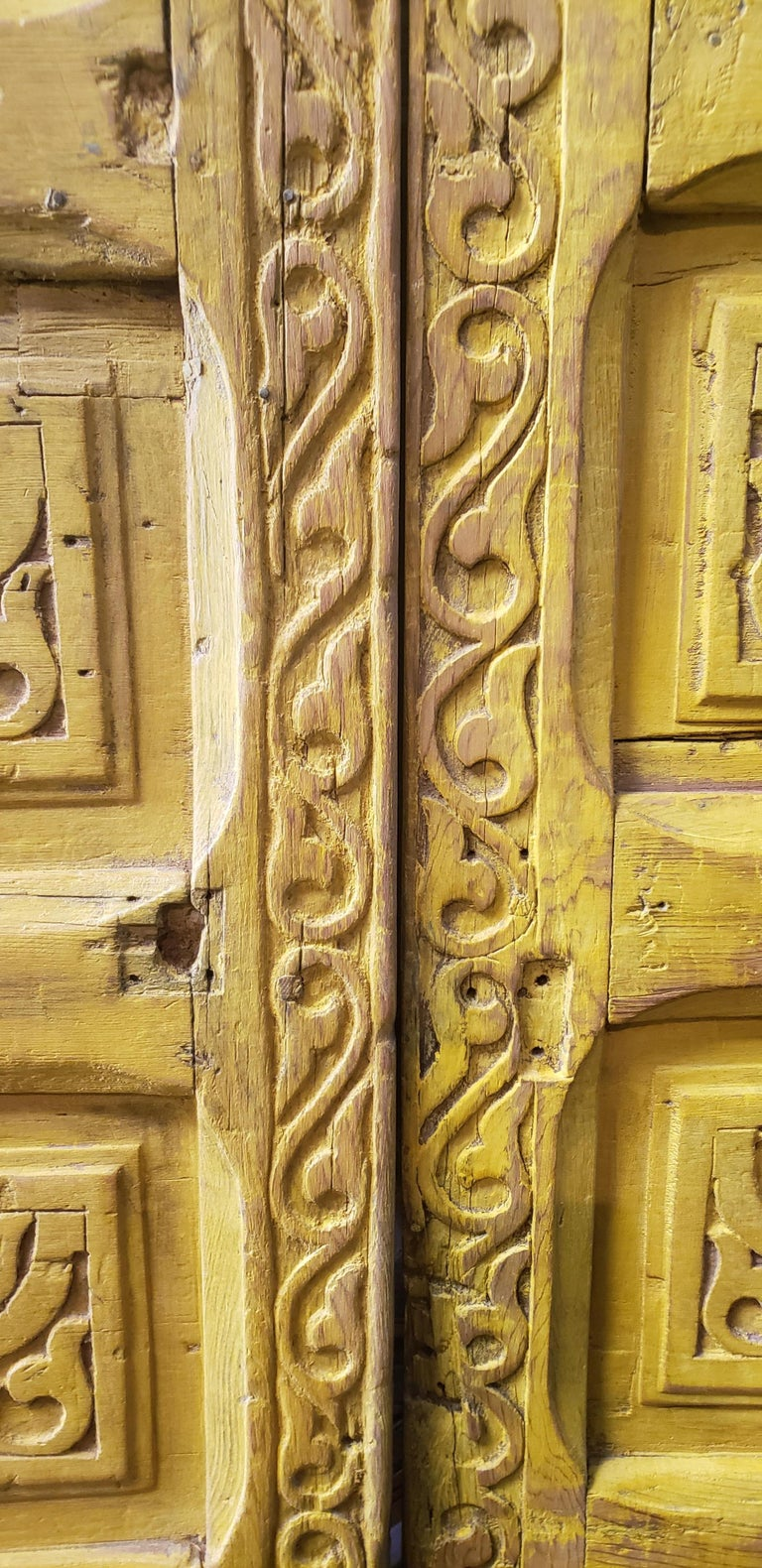 Another amazing double panel Moroccan door measuring approximately 84