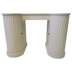 Double Pedestal Column Regency Vanity / Writing Desk by Kittinger