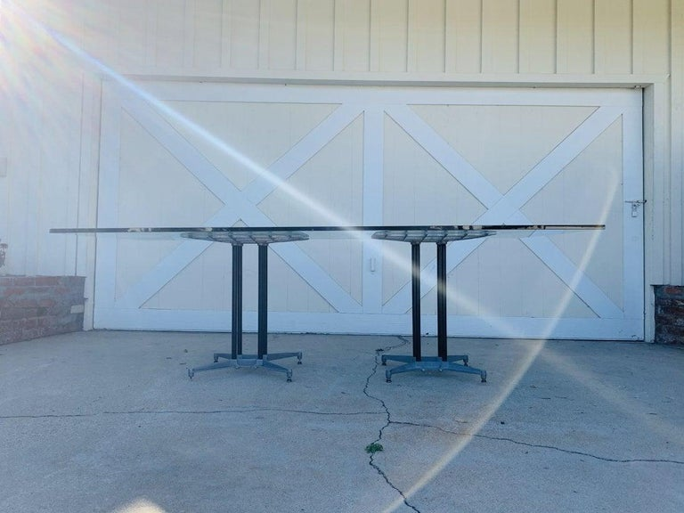 Mid-Century Modern Double Pedestal Dining Table by Robert Josten For Sale