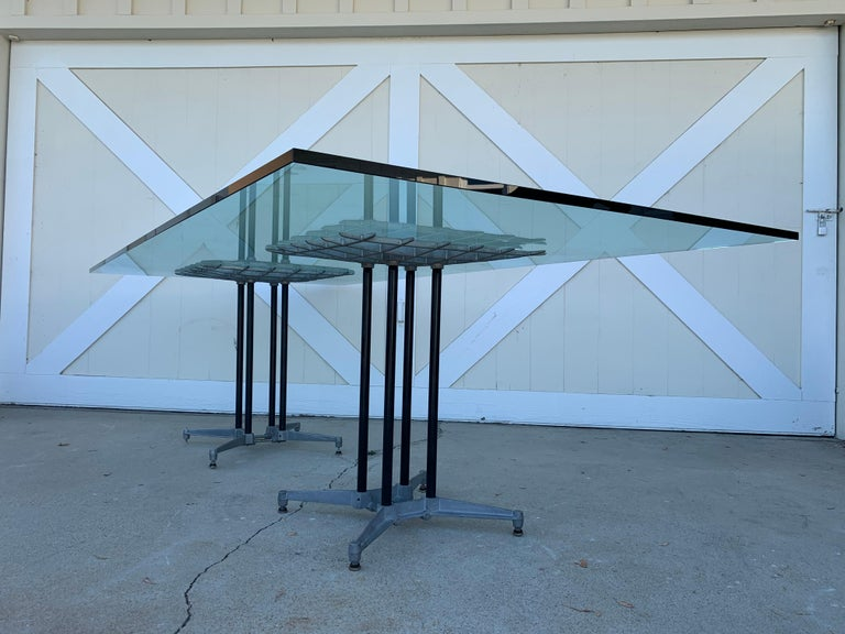 American Double Pedestal Dining Table by Robert Josten For Sale