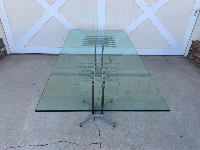 Double Pedestal Dining Table by Robert Josten In Good Condition For Sale In Los Angeles, CA