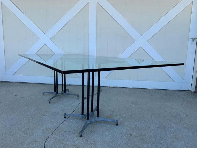 Double Pedestal Dining Table by Robert Josten For Sale 1