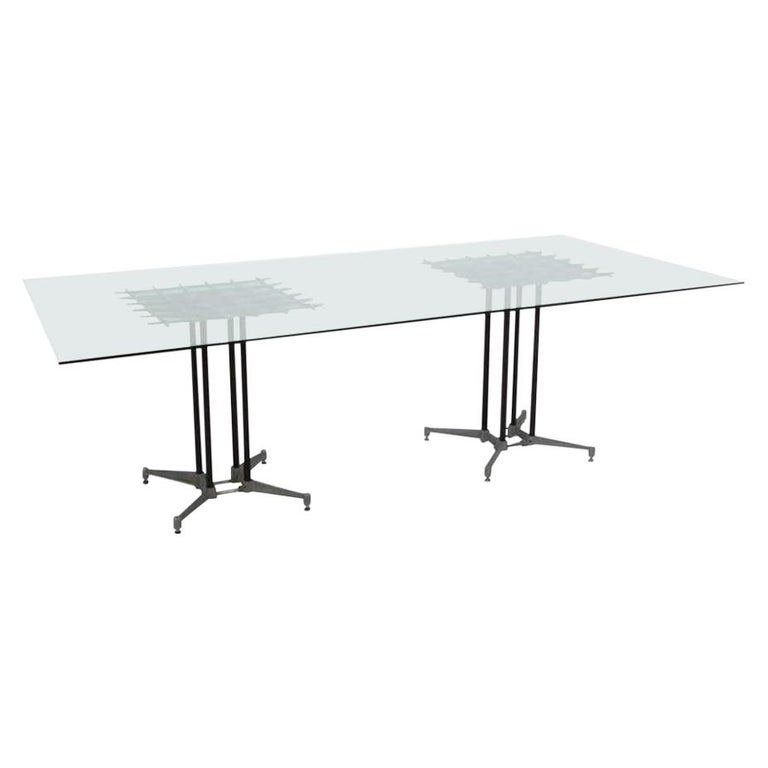 Double Pedestal Dining Table by Robert Josten For Sale
