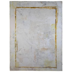 Double Rectangle, 2018, by Robin Phillips, Plaster and Dyes on Canvas