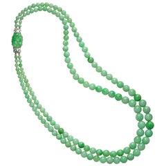 Double-Row Jade Necklace