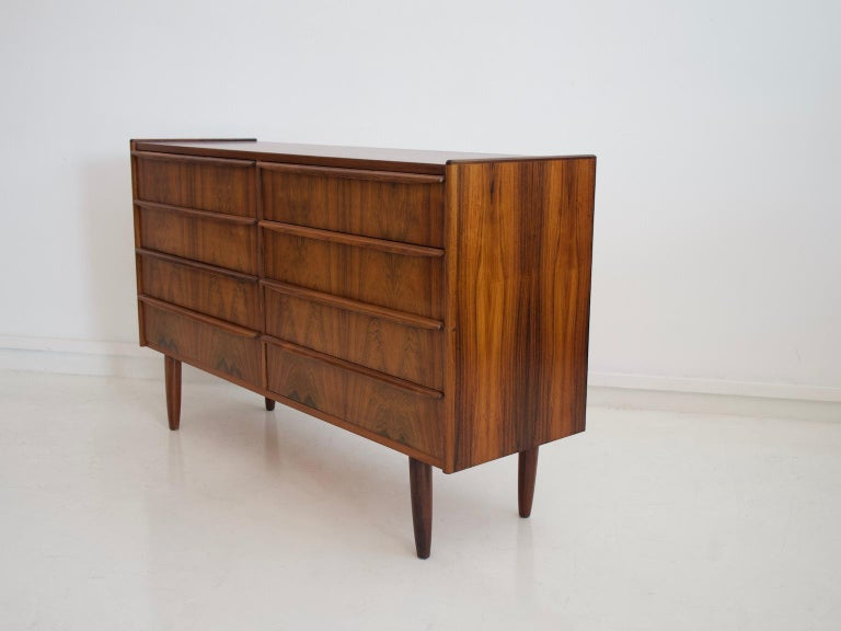 Mid-20th Century Double Row Wooden Commode with Eight Drawers For Sale