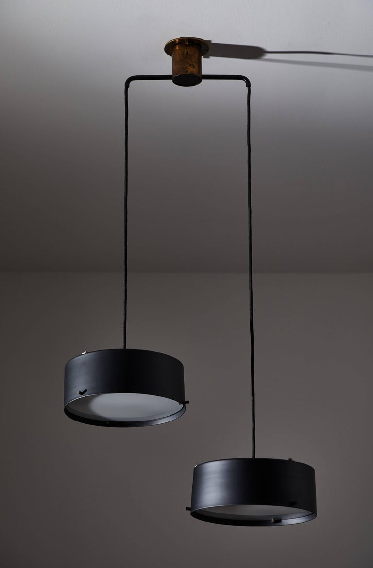 Double Shade Chandelier by Stilnovo In Good Condition For Sale In Los Angeles, CA