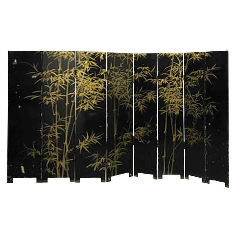 20th Century Double Sided Eight-Panel Chinese Screen For Sale