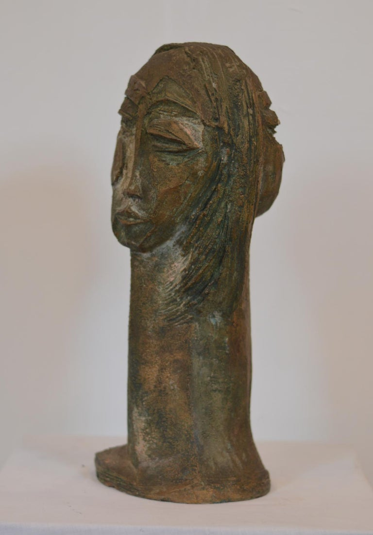 Double Sided Bust Sculpture by Lim Nang Seng In Good Condition For Sale In Charlottesville, VA