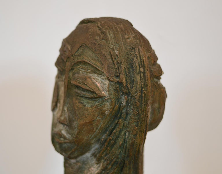 20th Century Double Sided Bust Sculpture by Lim Nang Seng For Sale