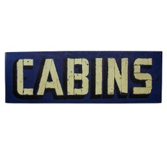 """Double Sided """"Cabins"""" Sign"""