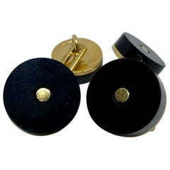 Double-Sided Cufflinks in 18K Yellow Gold and Black Onyx by Tom Ford