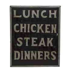 Double Sided Diner Sign