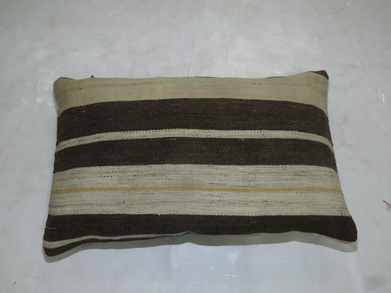 Modern Double Sided Kilim Pillow For Sale
