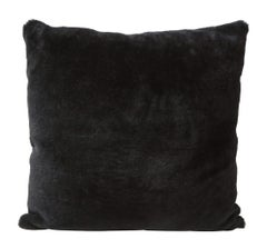 Double Sided Merino Shearling Pillow in Black Color