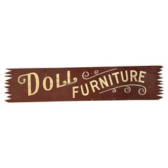 Double Sided Painted Wood Doll Furniture Sign